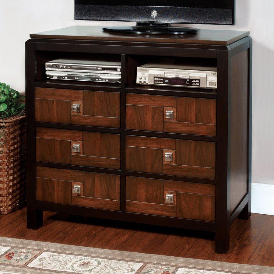 Shop Furniture Of America Patra Acacia Walnut 6 Drawer