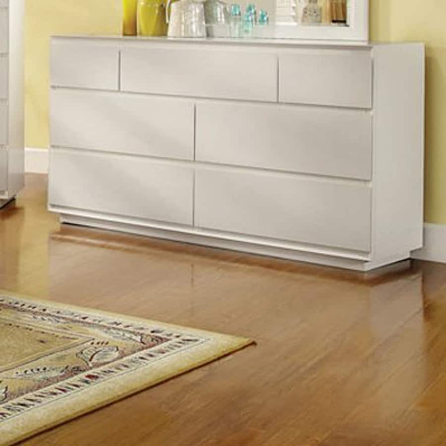 Furniture of America Felica White 7-Drawer Dresser