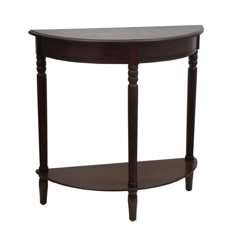 shop decor therapy walnut oak half round console table at lo
