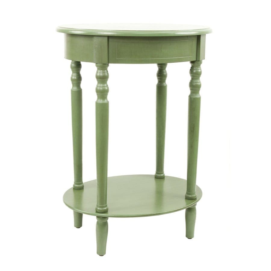 Decor Therapy Simplify Antique Basil Oak Oval End Table