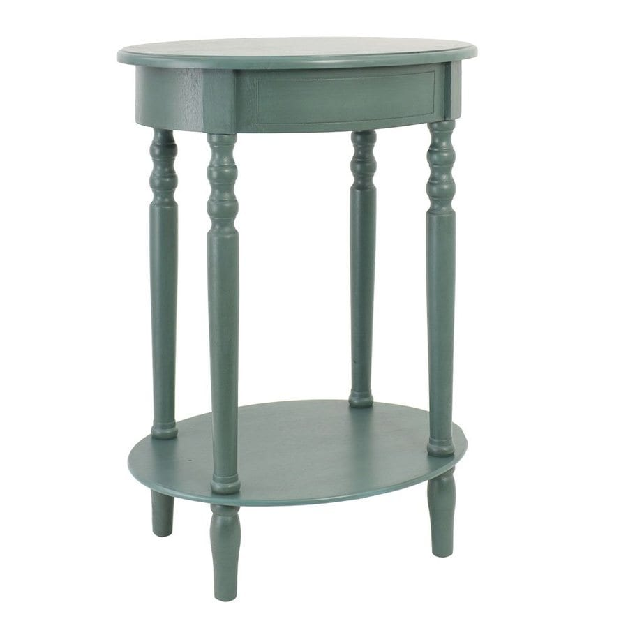 Decor Therapy Simplify Teal Oak End Table