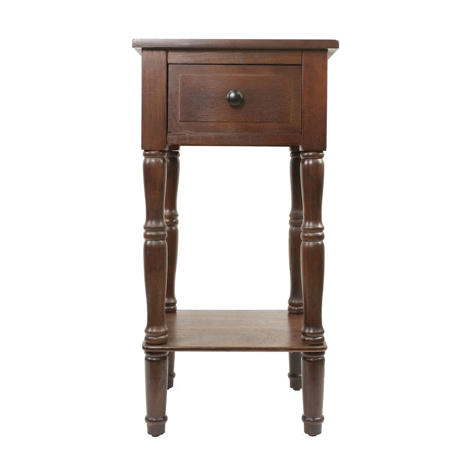 Decor Therapy Simplify Walnut Asian Hardwood Square End Table