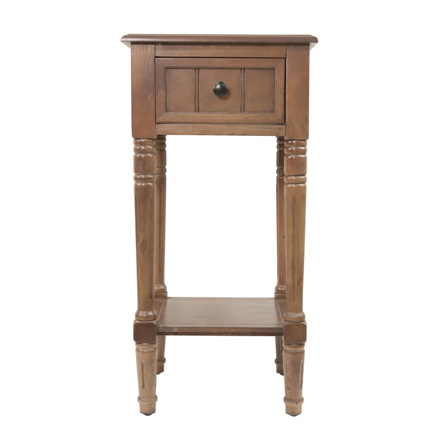 Decor Therapy Simplify Ash Brown Asian Hardwood Square End Table