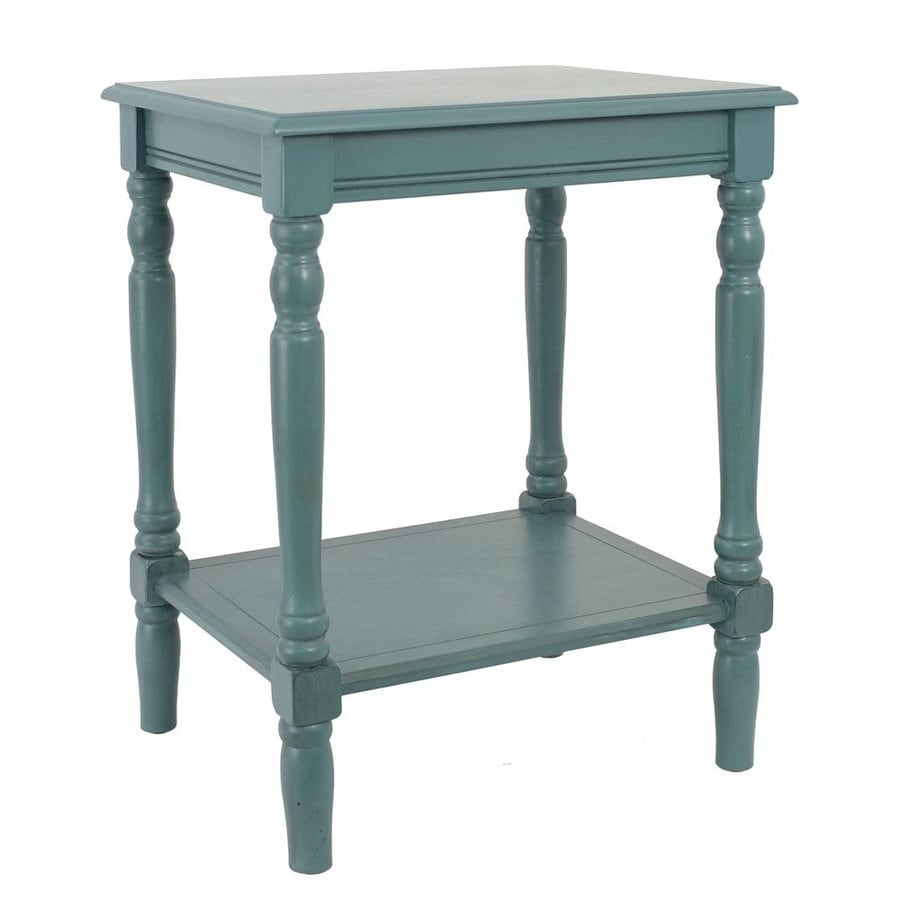Dcor Therapy Simplify Blue Composite Rectangular End Table