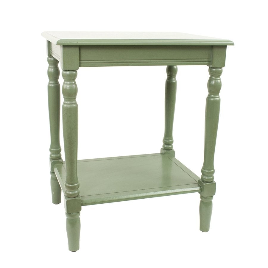 Decor Therapy Simplify Antique Basil Composite Rectangular End Table