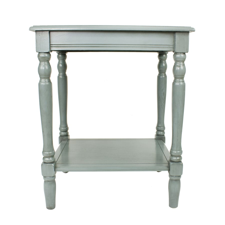 Decor Therapy Simplify Antique Arctic Blue End Table