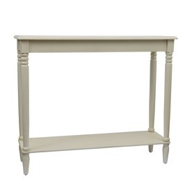 Decor Therapy Simplify Antique White Composite Country Console Table