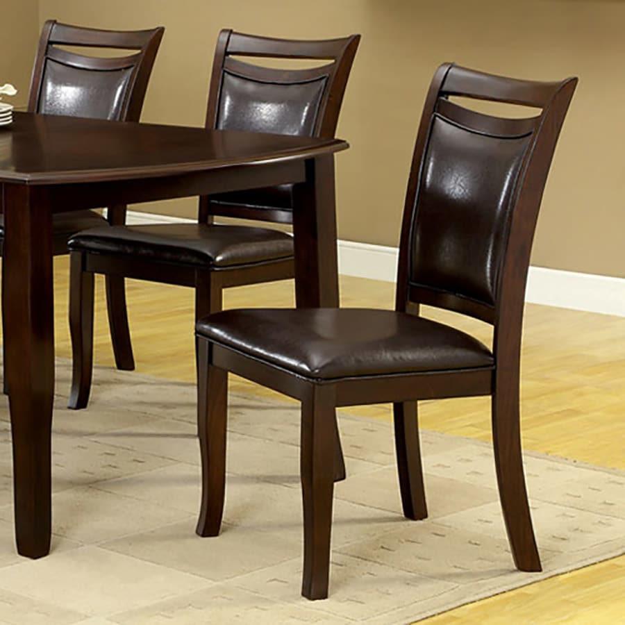 Furniture of America Set of 2 Woodside Dark Cherry Side Chairs