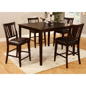 Furniture Of America Bridgette II Espresso Dining Set With Counter Height  Table