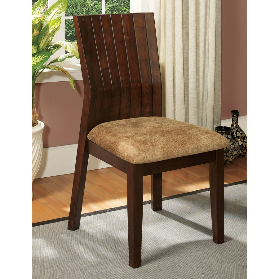 Furniture of America Set of 2 Ottawa Walnut Side Chair