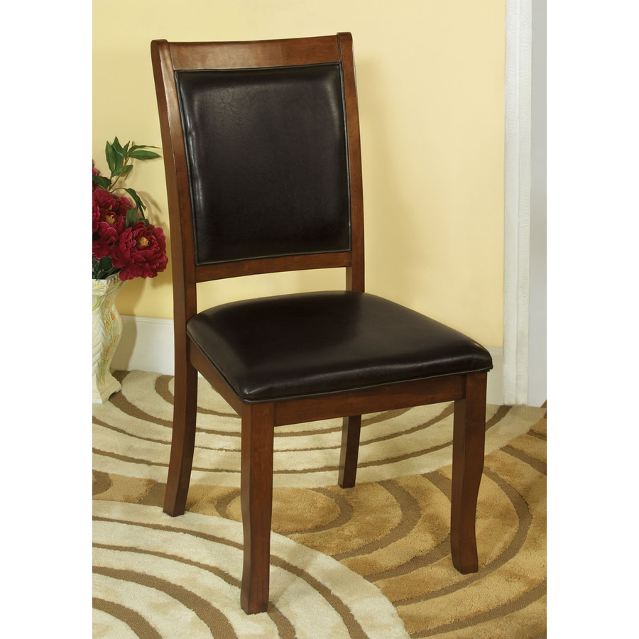 Furniture of America Set of 2 Sandy Point Brown Cherry Side Chair