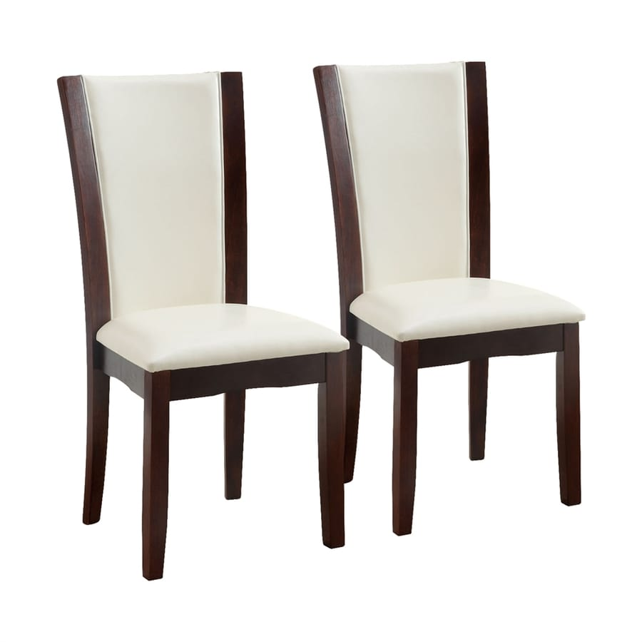 Furniture of America Set of 2 Manhattan White Side Chairs