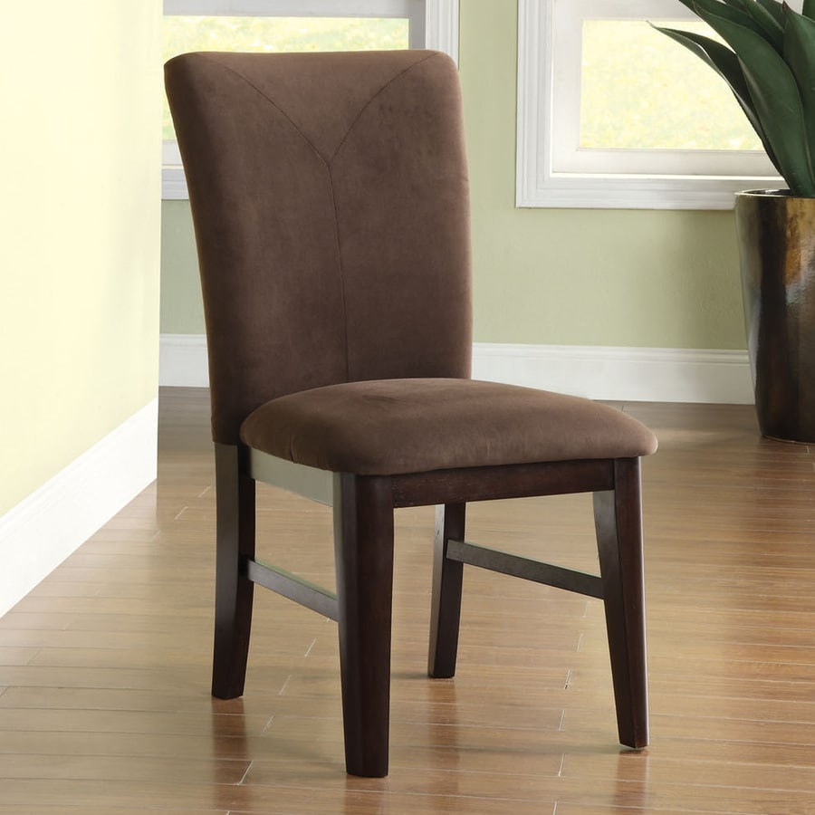 Shop Furniture of America 2 Atwood Dark Walnut Side Chairs at