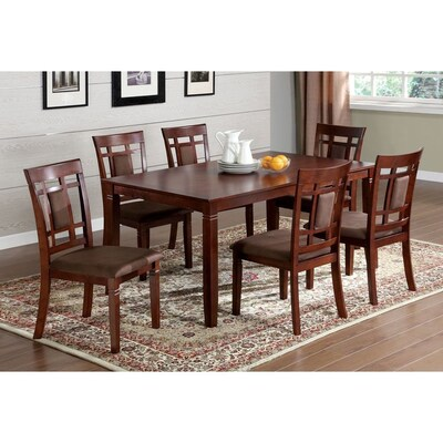 Furniture Of America Montclair Dark Cherry Dining Set With