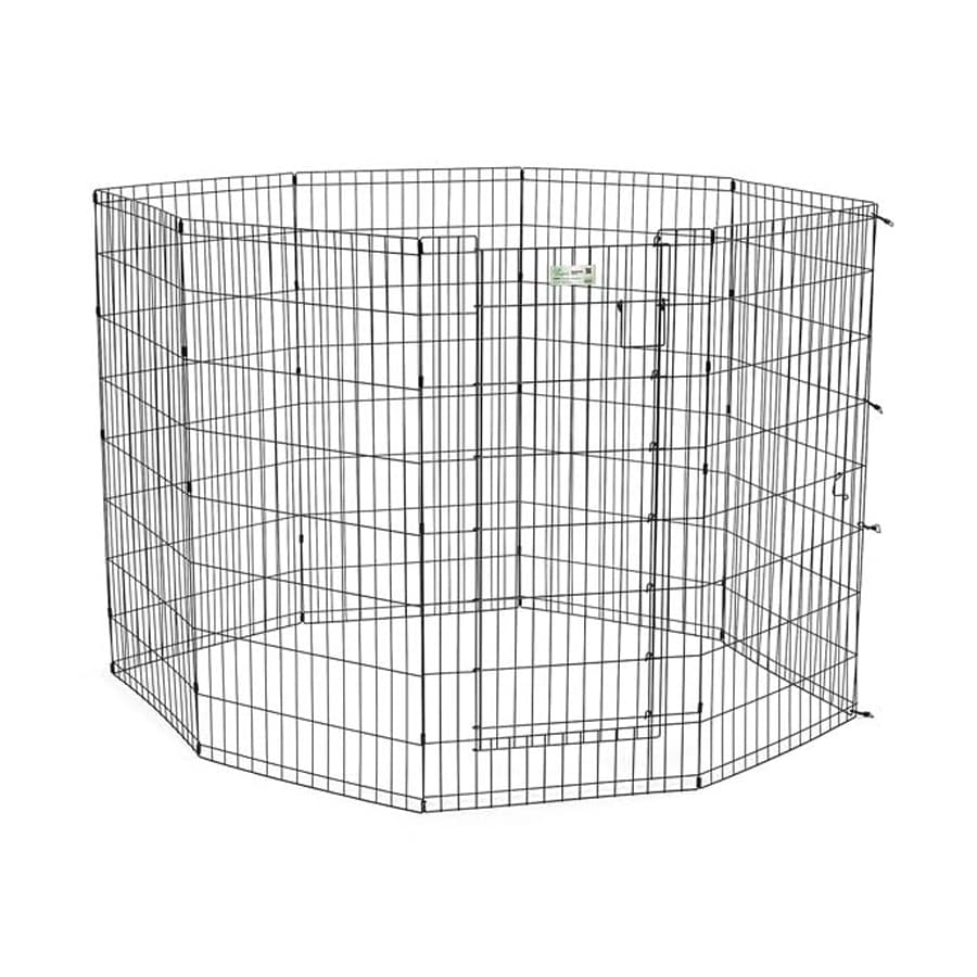 midwest pets Life Stages 24-in x 24-in Black Metal Indoor/Outdoor Exercise Pen