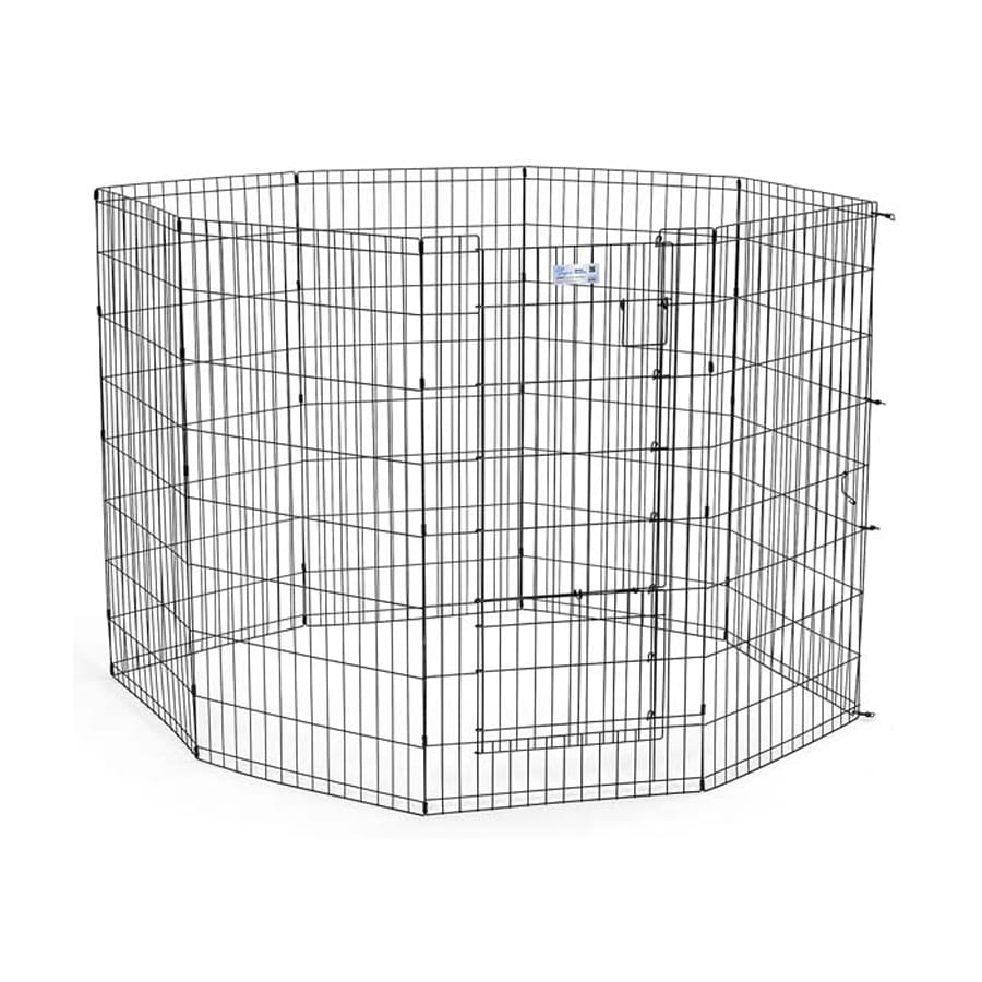 midwest pets Life Stages 30-in x 24-in Black Metal Indoor/Outdoor Exercise Pen