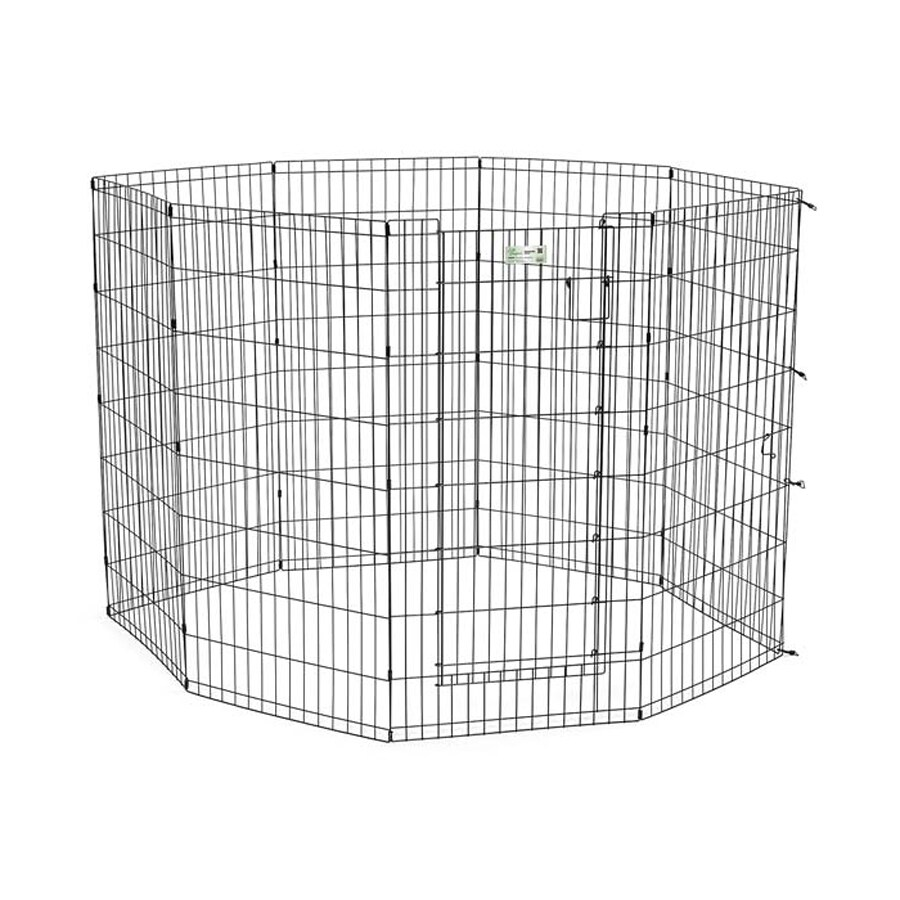 midwest pets Life Stages 36-in x 24-in Black Metal Indoor/Outdoor Exercise Pen