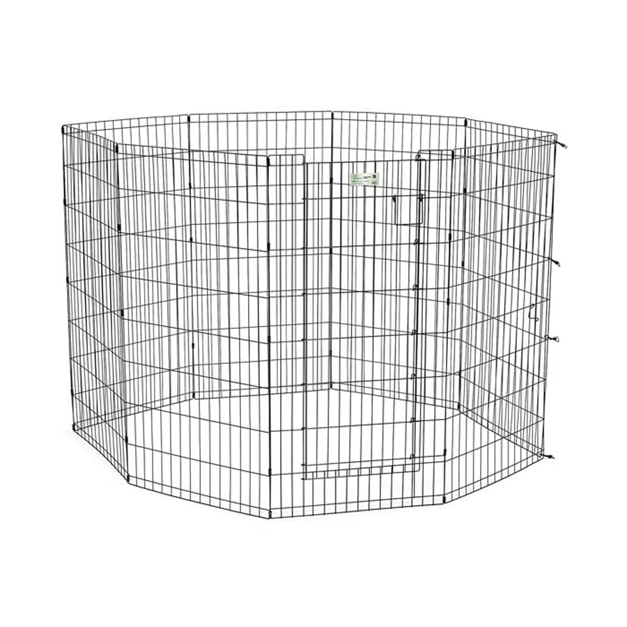 midwest pets Life Stages 48-in x 24-in Black Metal Indoor/Outdoor Exercise Pen