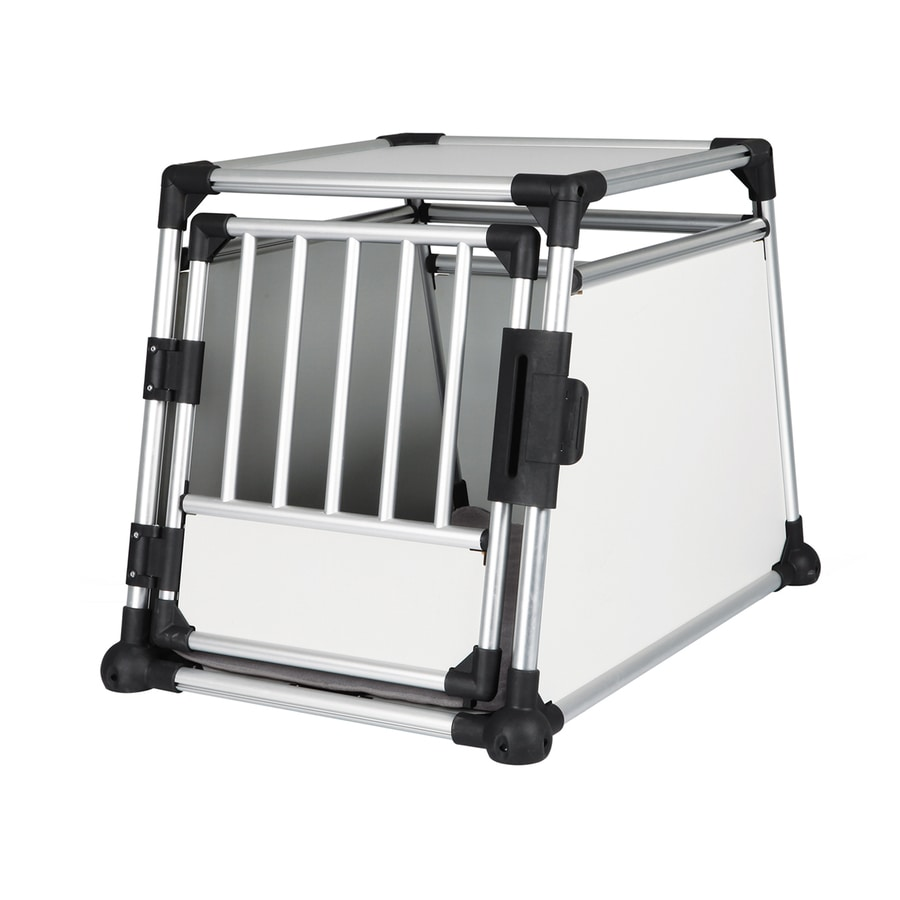 Trixie Pet Products 2.94-ft x 2.06-ft x 2.13-ft Aluminum Gray/White/Black MDF with Aluminum Pet Crate
