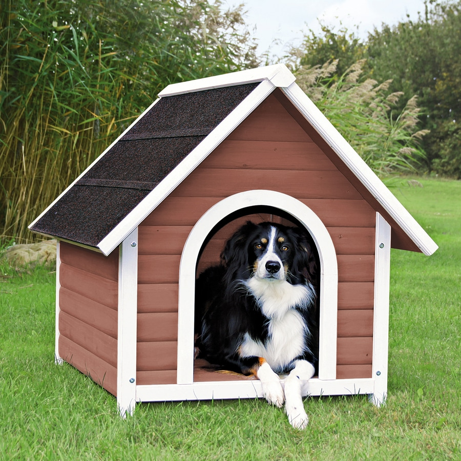 Trixie Pet Products 2.77-ft x 2.604-ft x 3.083-ft Wood Dog House
