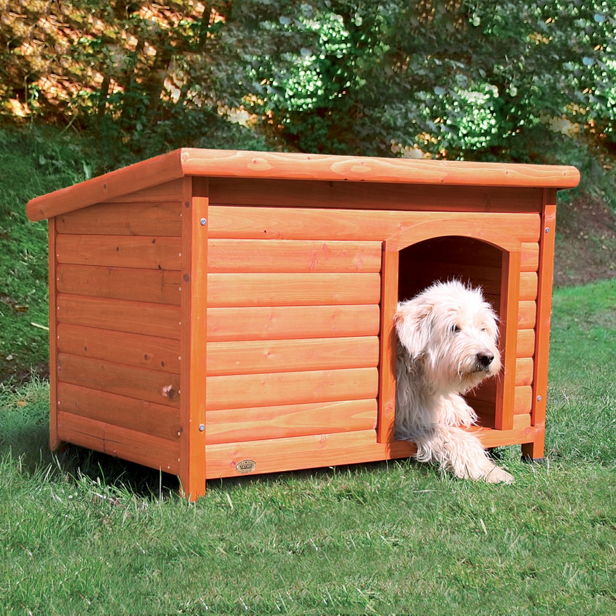 Trixie Pet Products 1.895-ft x 1.958-ft x 2.77-ft Wood Dog House