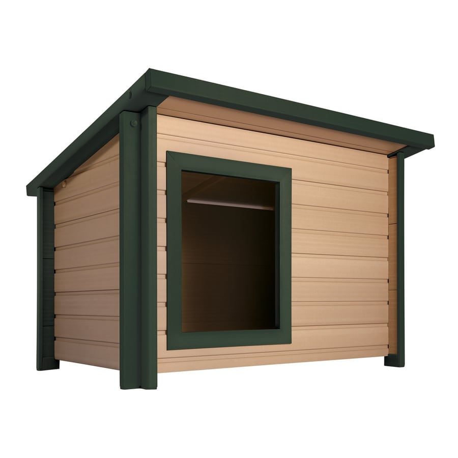 New Age Pet 3.125-ft x 3.2-ft x 3.866-ft Composite Dog House