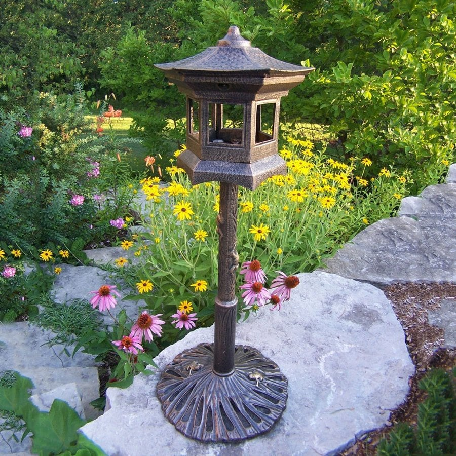 Oakland Living 15-in W x 36-in H x 15-in D Antique Bronze Bird House