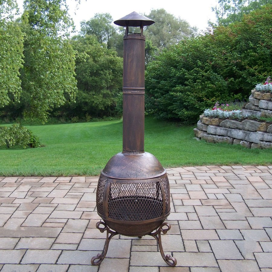 shop oakland living cast iron outdoor wood burning fireplace at