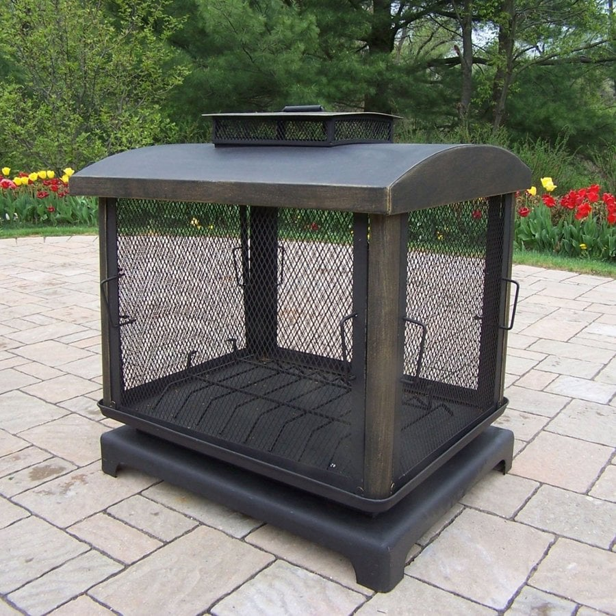 Shop Oakland Living Black Iron Outdoor Wood-Burning ... on Lowes Outdoor Living id=81352