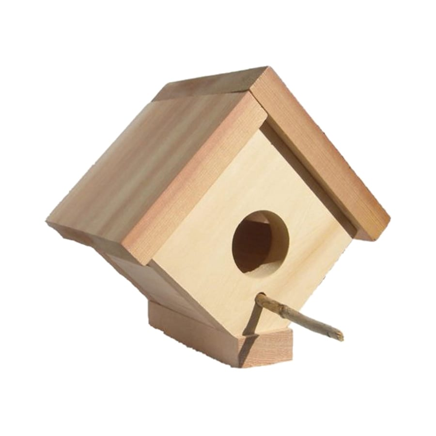 All Things Cedar 5-in W x 6-in H x 5-in D Bird House