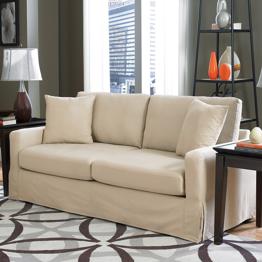 Sofab Lily Cosmopolitan Ivory Synthetic Stationary Sofa