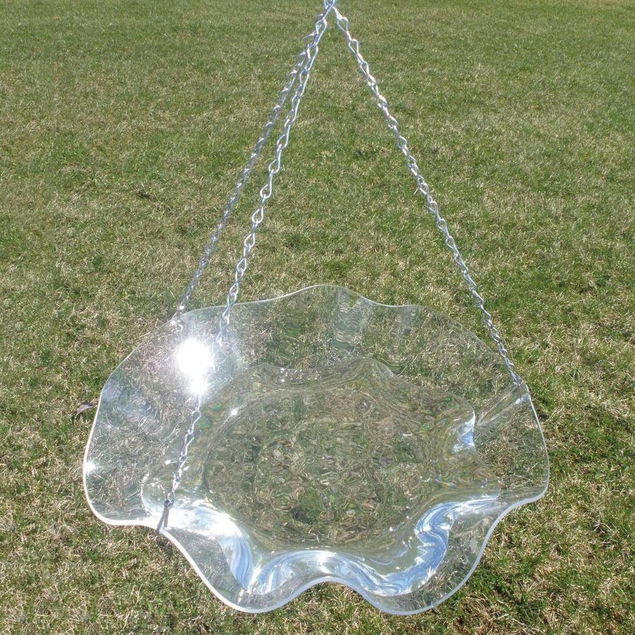 Birds Choice 5-in H 1-Tier Round Acrylic Birdbath