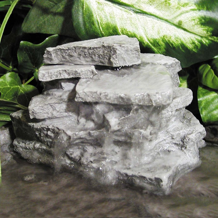 Shop birds choice 5 in resin rock waterfall at for Garden rock waterfall fountain