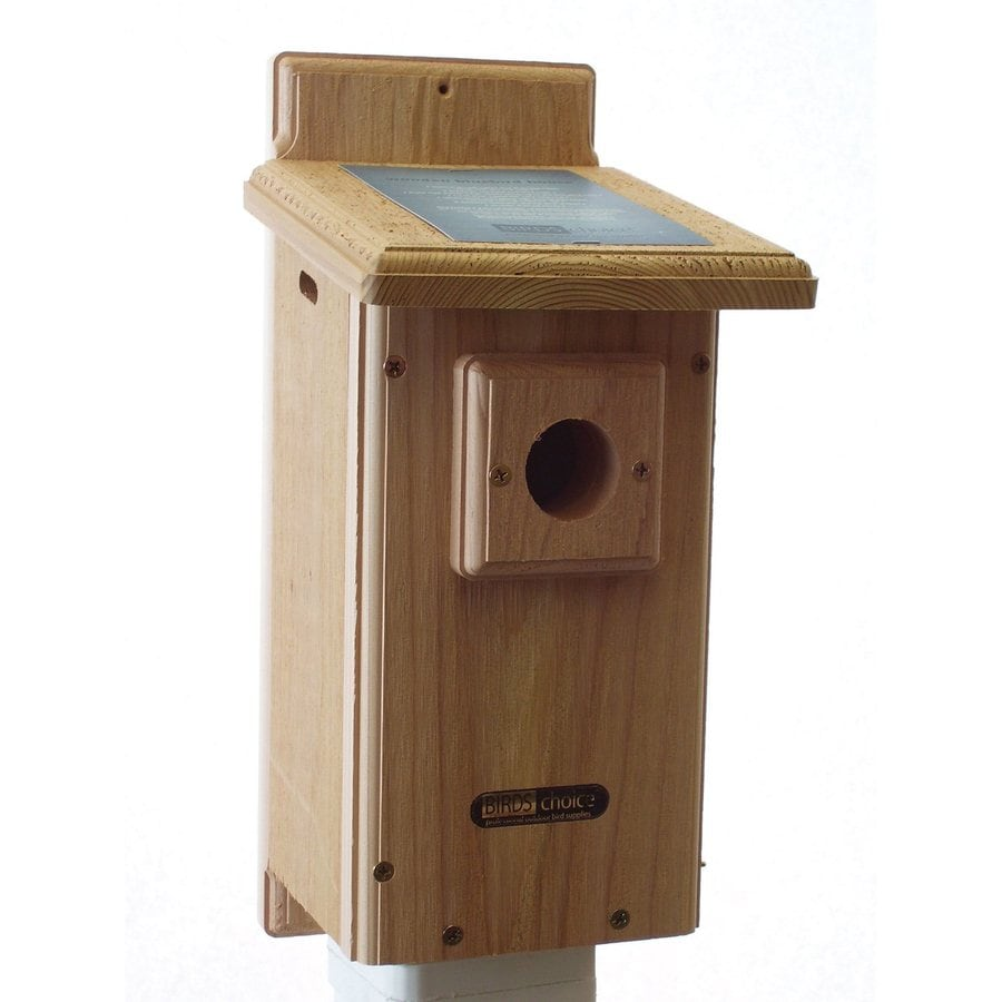 Birds Choice 8.5-in W x 18-in H x 7.25-in D Natural Bird House