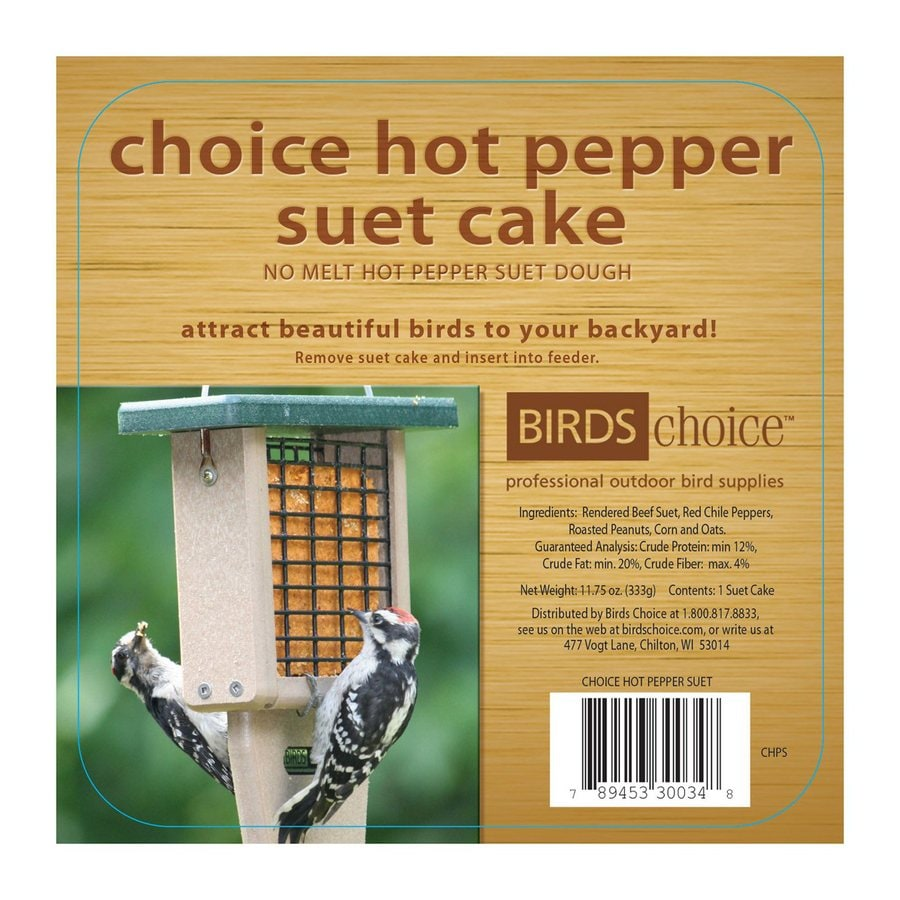 Birds Choice 141-oz Hot Pepper Peanut Suet
