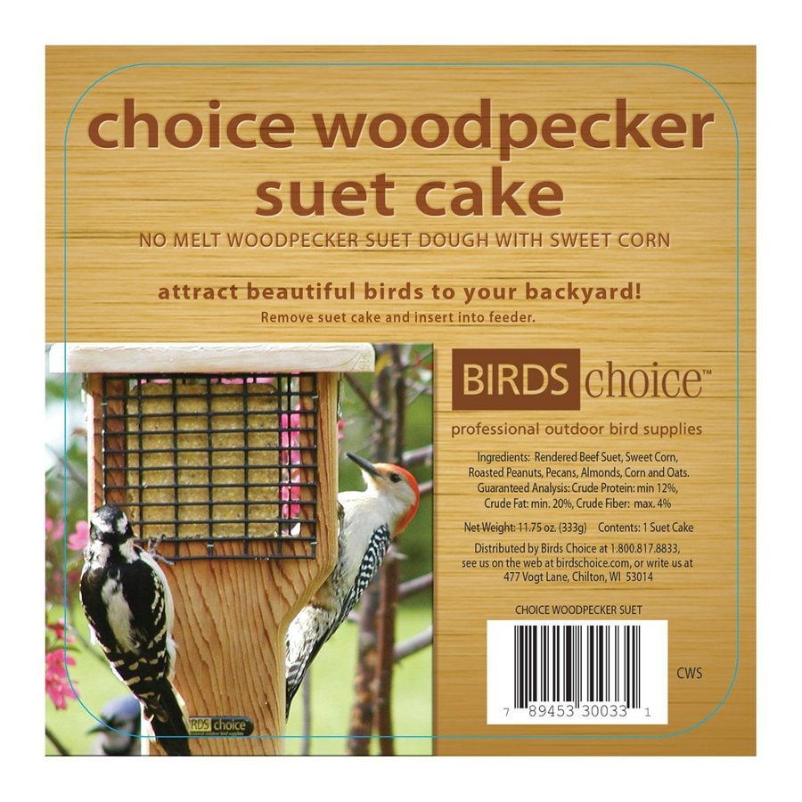 Birds Choice 141-oz Woodpecker Peanut Suet
