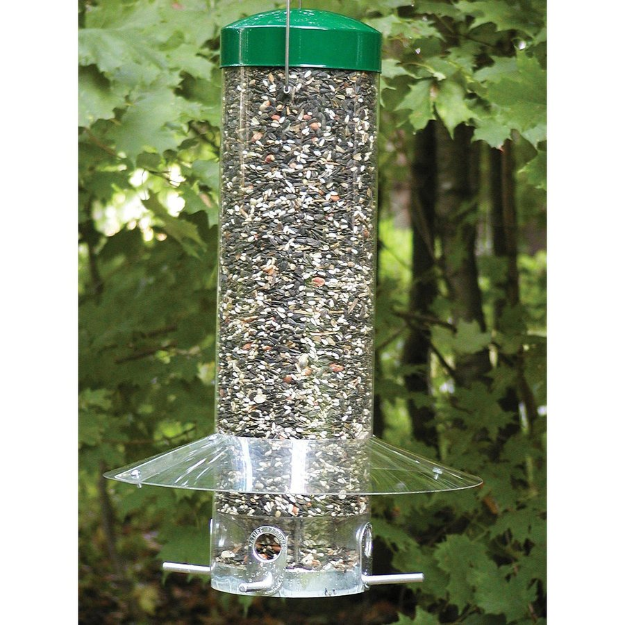Birds Choice Steel Squirrel-Resistant 2.2-Gallon Tube Bird Feeder