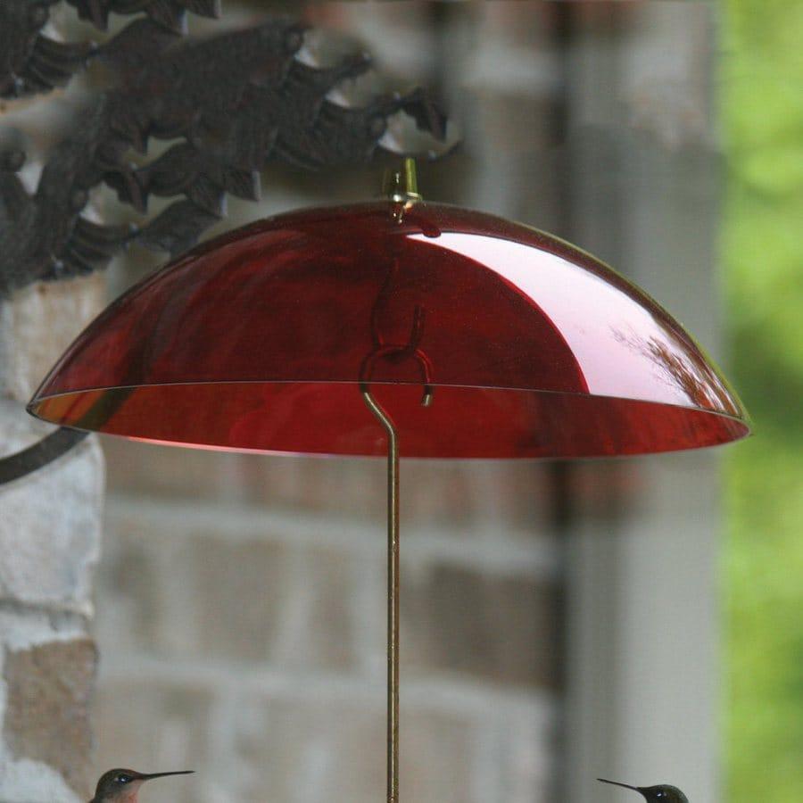 Birds Choice Red Plastic Bird Feeder Weather Guard