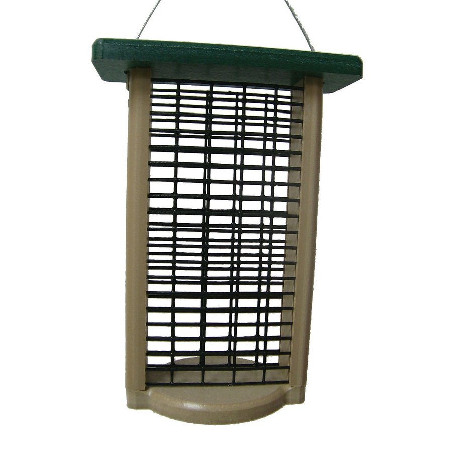 Birds Choice Recycled Green/Taupe Two-Cake Suet Feeder