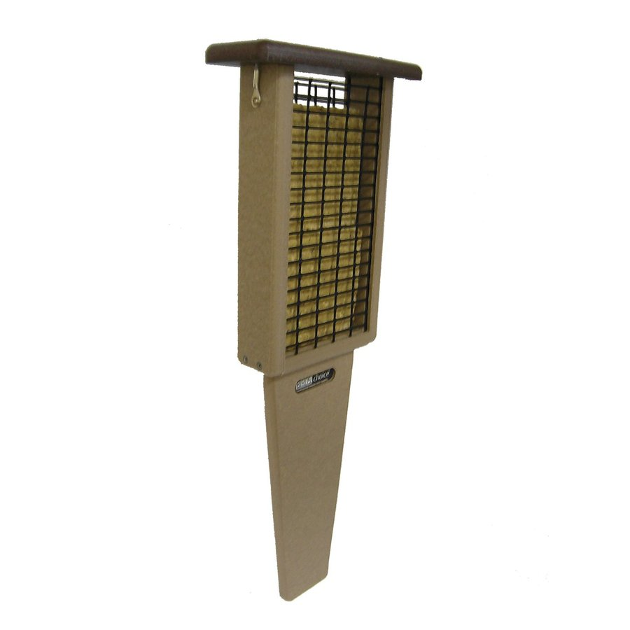Birds Choice Recycled Brown/Taupe Two-Cake Suet Feeder