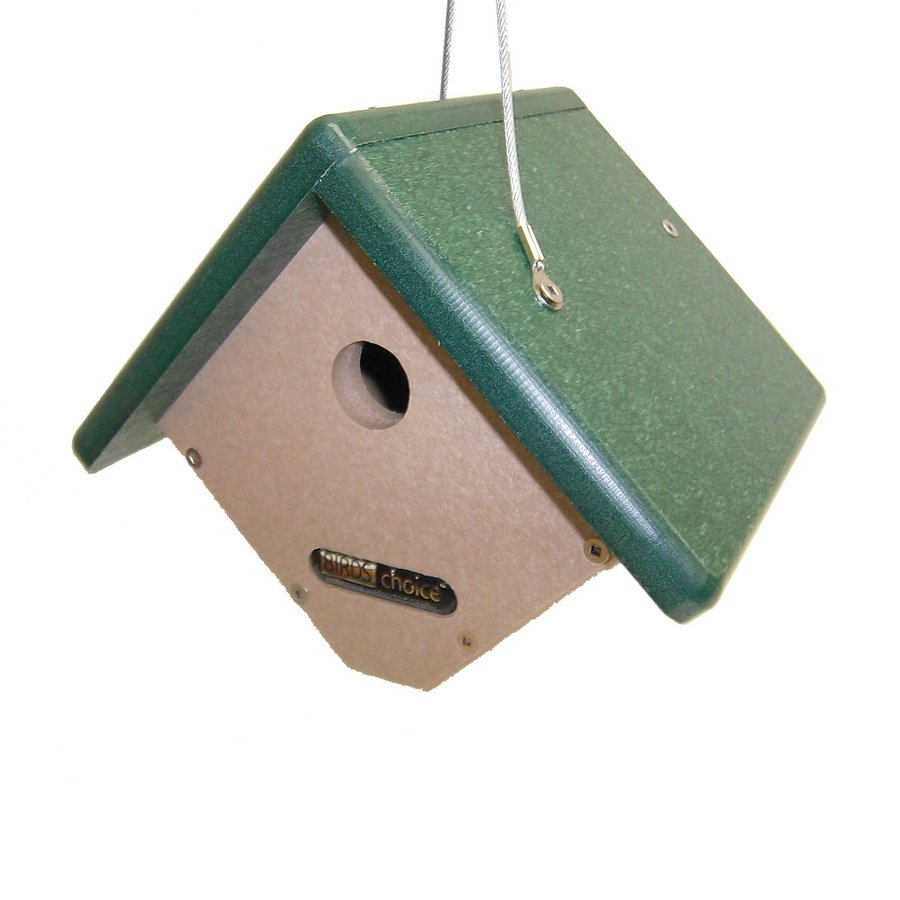 Birds Choice 9-in W x 7.5-in H x 7-in D Taupe Bird House