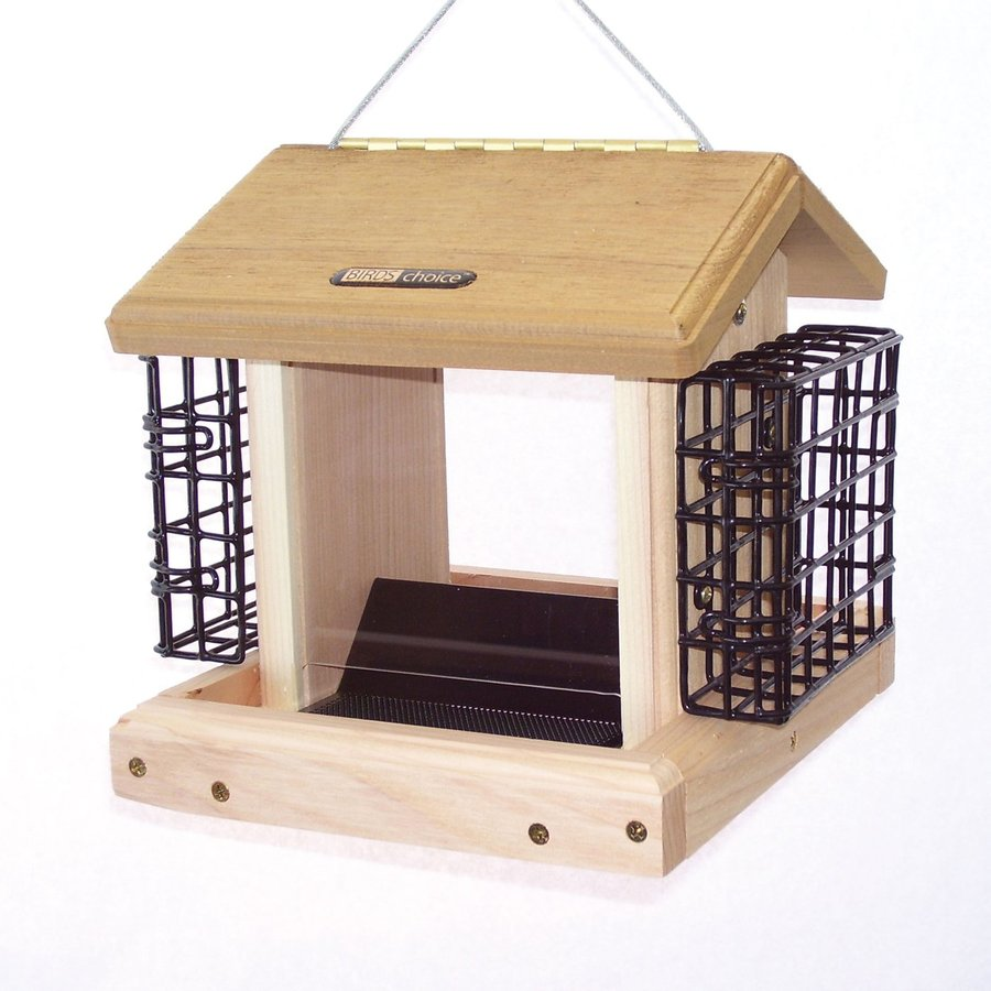 Birds Choice Cedar 2.5-Quart Hopper Bird Feeder