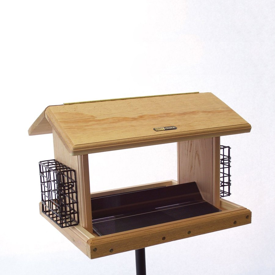 Birds Choice Cedar 11-Quart Hopper Bird Feeder