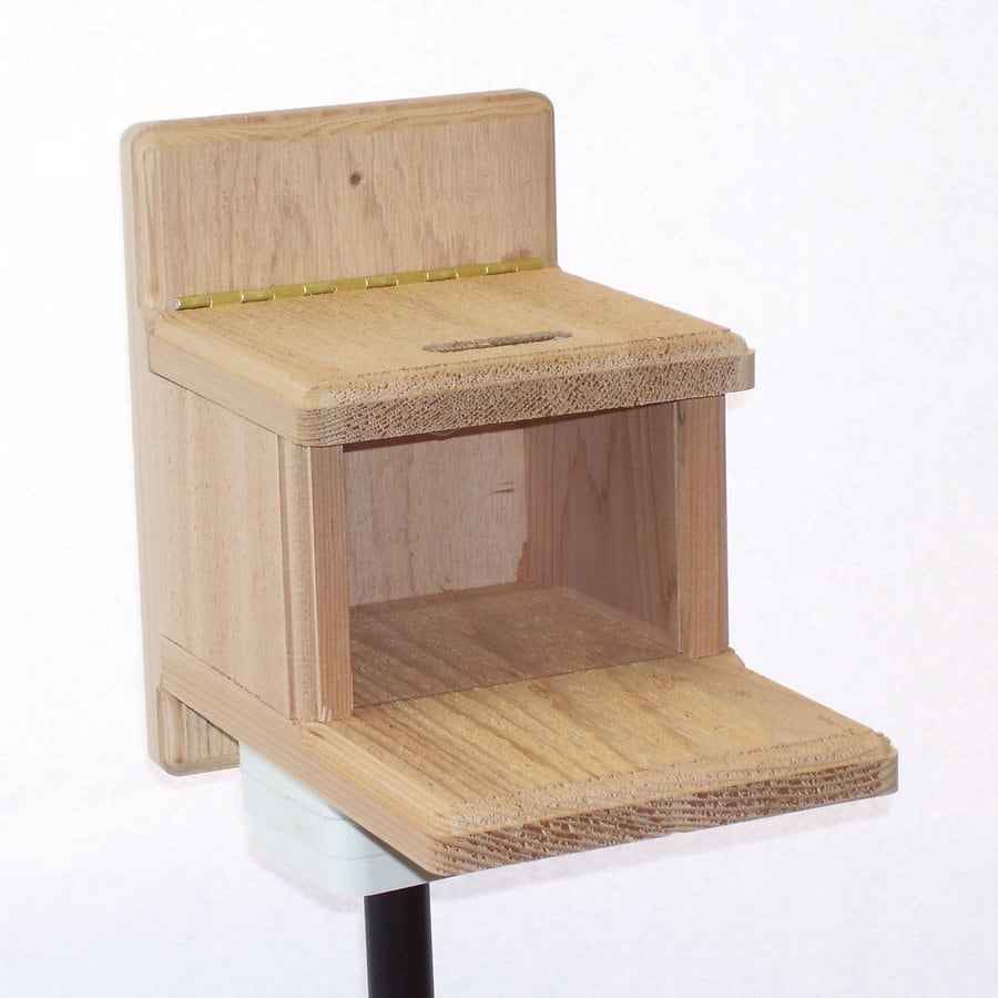 Birds Choice Natural Cedar Lidded Box Squirrel Feeder