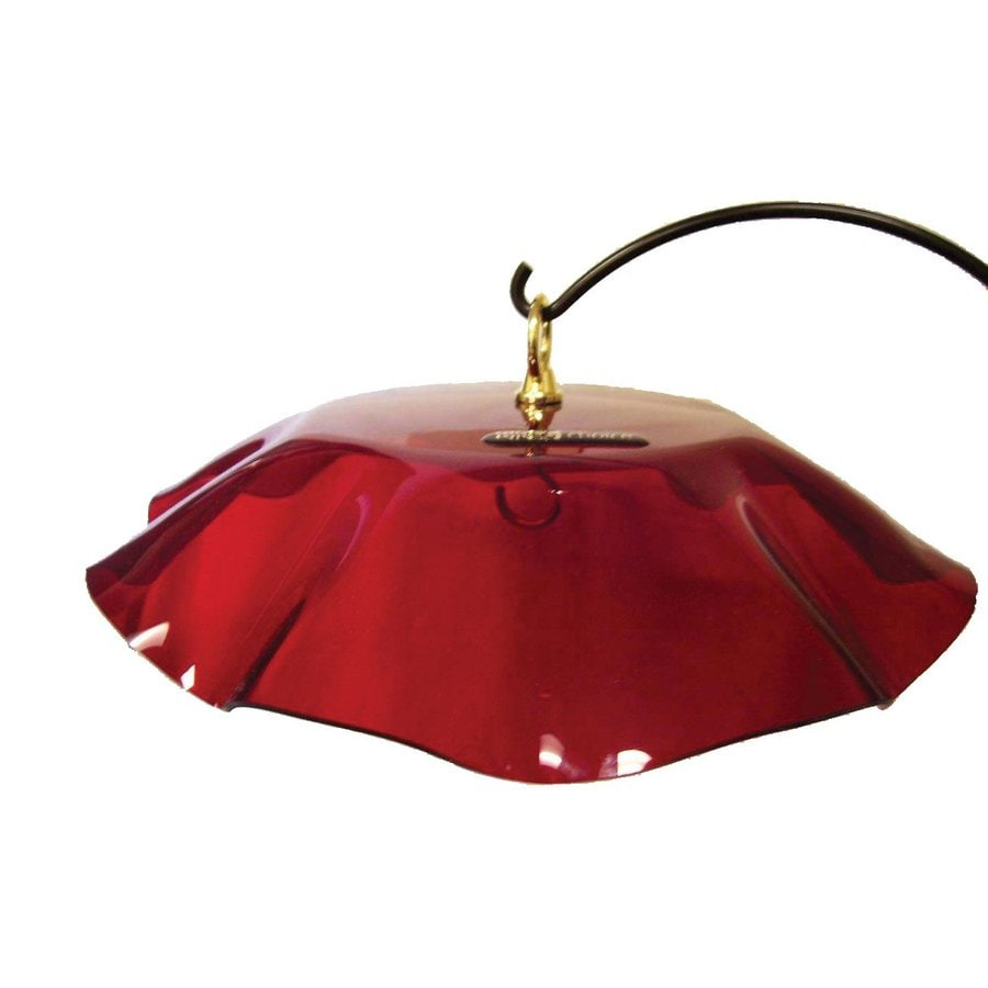 Birds Choice Red Plastic Bird Feeder Weather Guard