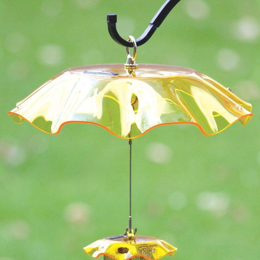 Birds Choice Yellow Plastic Bird Feeder Weather Guard
