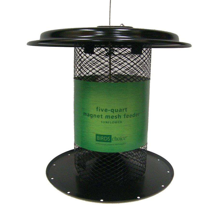shop birds choice sunflower steel 5 quart tube bird feeder at. Black Bedroom Furniture Sets. Home Design Ideas