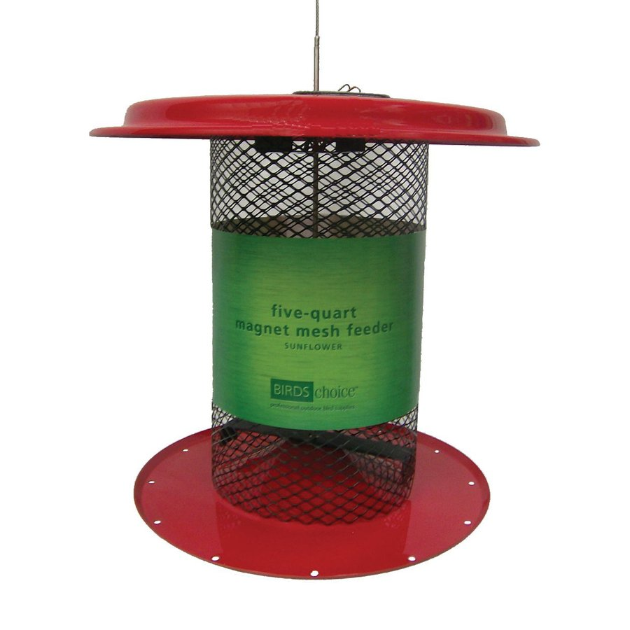 Birds Choice Sunflower Steel 5-Quart Tube Bird Feeder