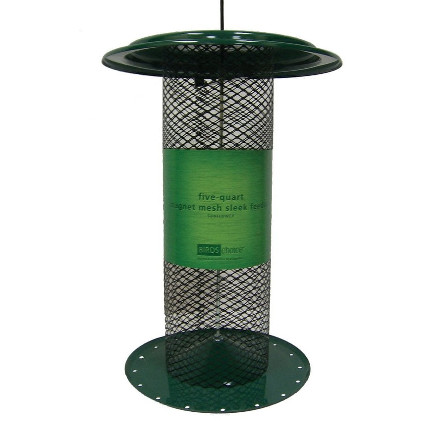 Birds Choice Sunflower Steel 5-Quart Tube Bird Feeder