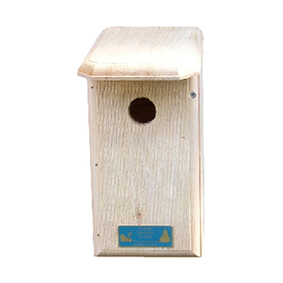Coveside Conservation 6.25-in W x 12.5-in H x 8.25-in D Unfinished Pine Bird House